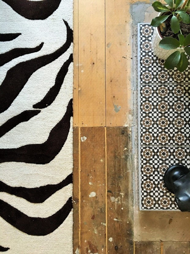 rugs and tiles pattern clashing