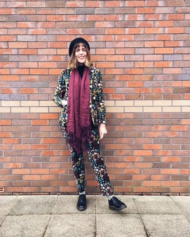emilia velvet suit boden bohemian style doc martens