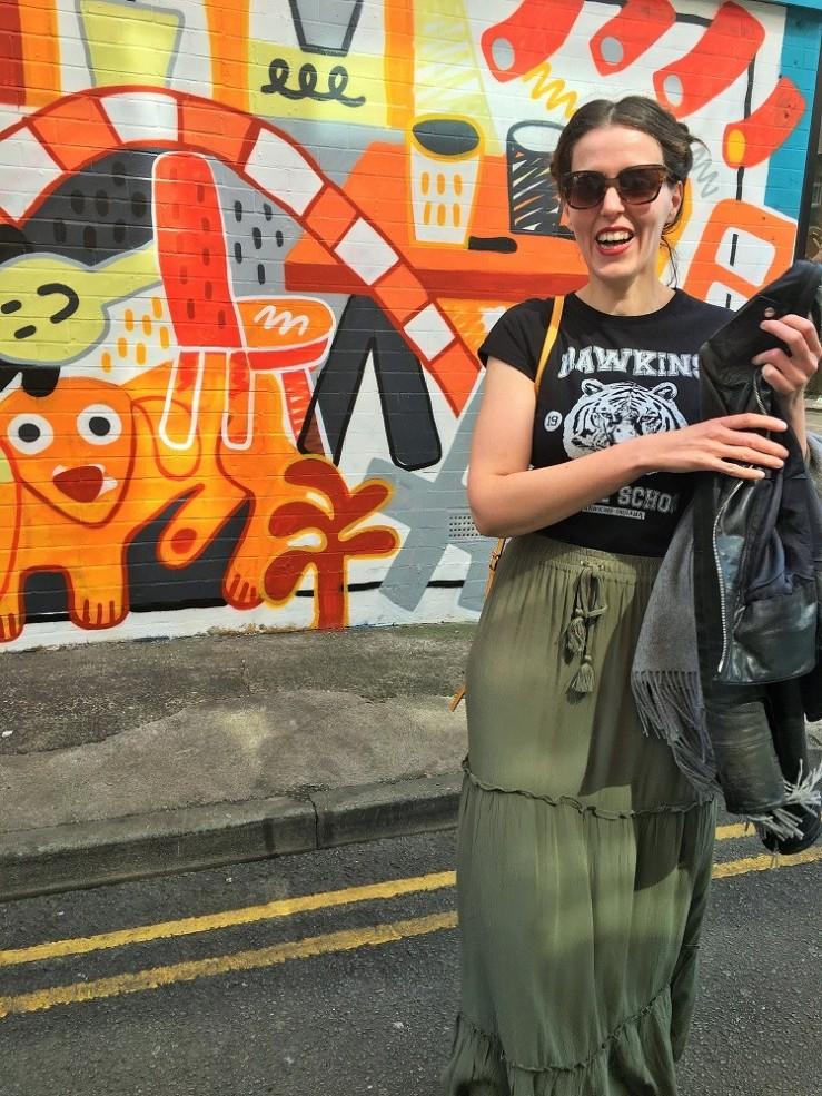 northern quarter street art blogger stranger things t shirt