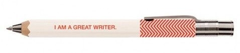 i am a great writer pen from paperchase perfect writer gift
