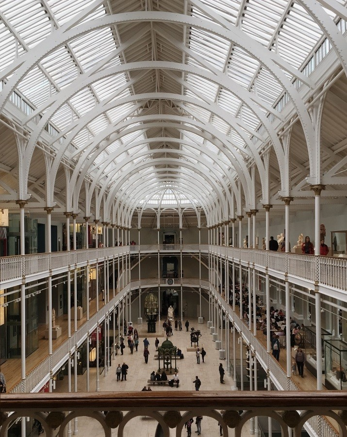 Edinburgh museum of scotland history natural world amazing vaulted roof