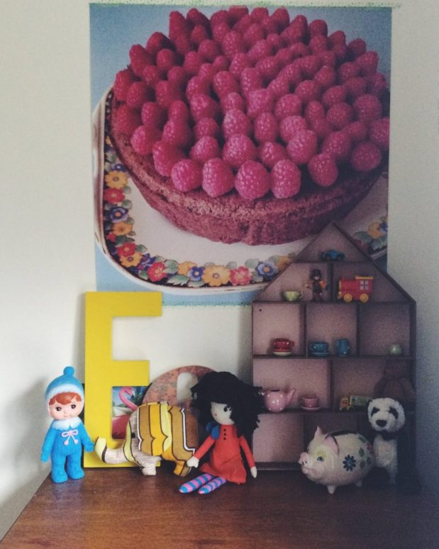 cake wall art from instagram