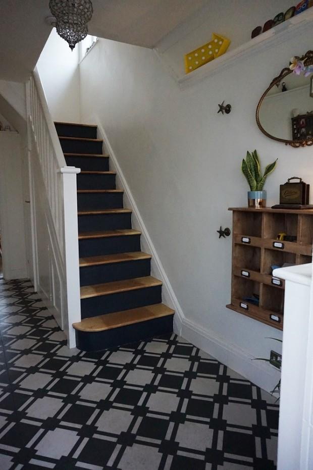 sanding an edwardian staircase