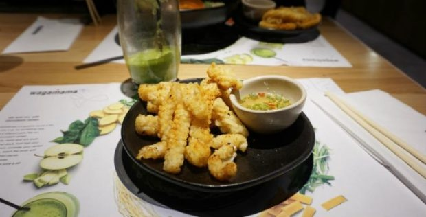 chilli squid at wagamama