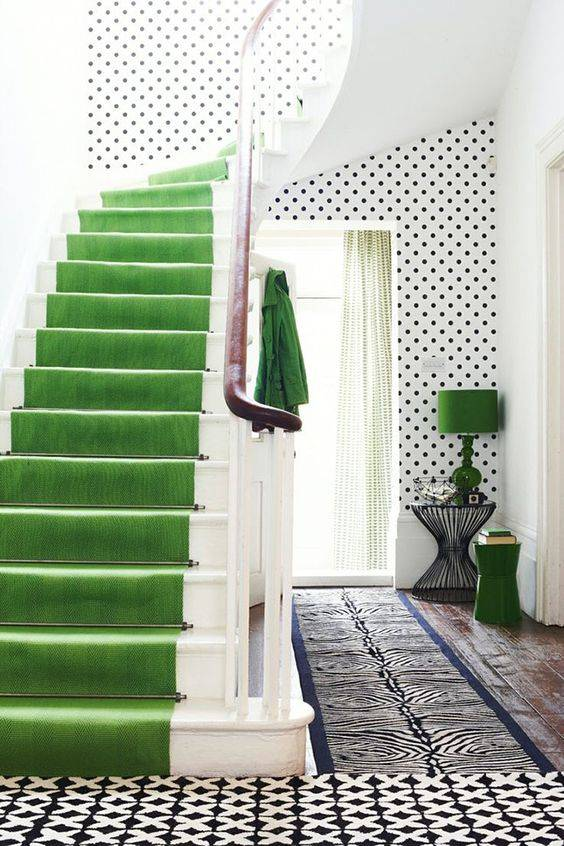 green colourful stairs