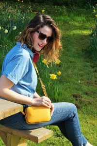 how to wear double denim - twiggy collection for M&S