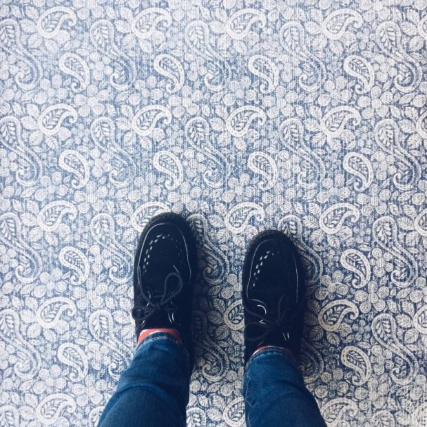 blue paisley rug creepers