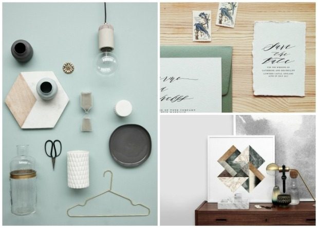 object style flatlay wedding home interiors