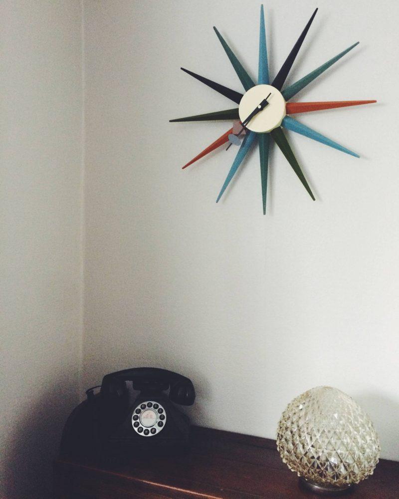 vintage repro star clock