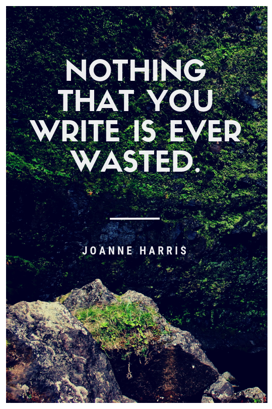 joanne harris quote on writing
