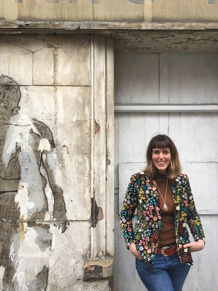 street art floral velvet boden jacket