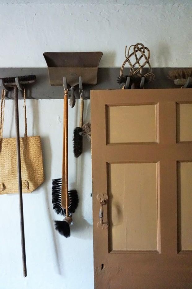 utility room erddig brooms white walls