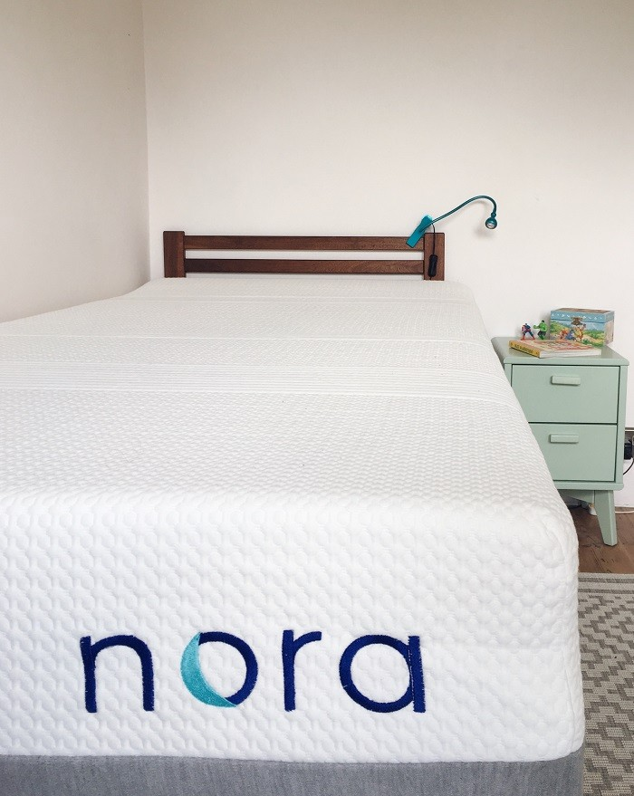 nora mattress review in kids room