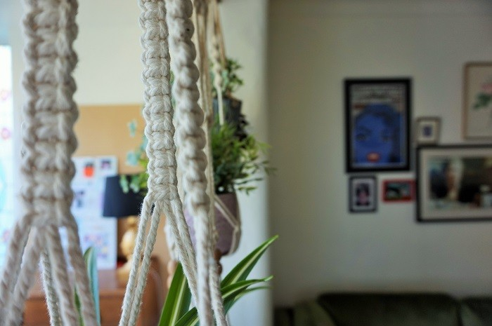 plant hangers made from macrame