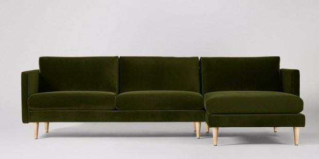 velvet green sofas
