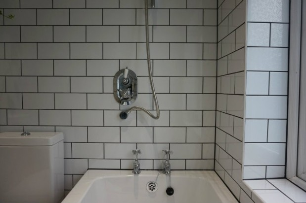 victorian shower and taps old fashioned