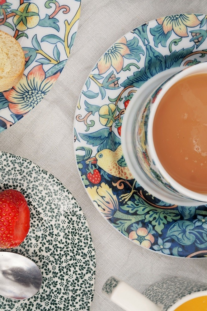 afternoon tea outside with william morris