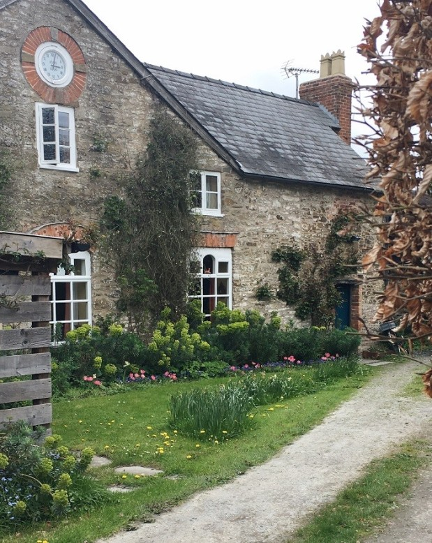 country cottage garden in wales