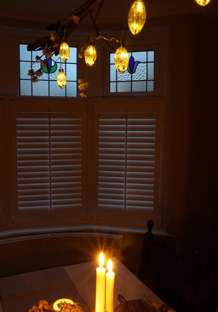 shutters in bay window