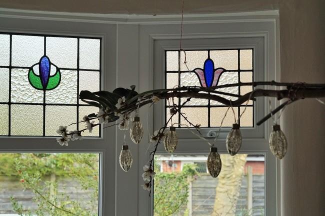 edwardian stained glass bay window