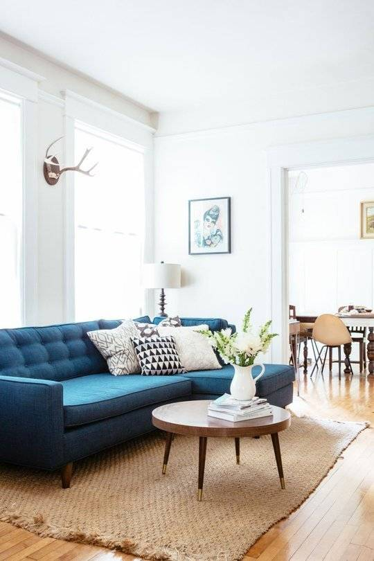 teal corner sofa mid century style