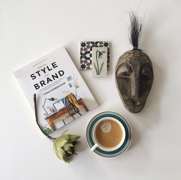 book giveaway flatlay branding blog