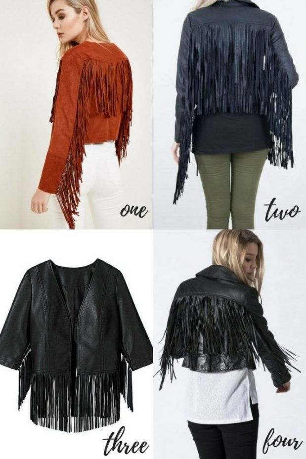 shopping for fringed jackets as part of my dream capsule wardrobe
