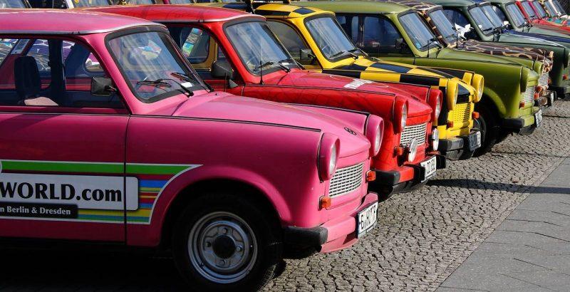 colourful car berlin vintage classic motor trabant