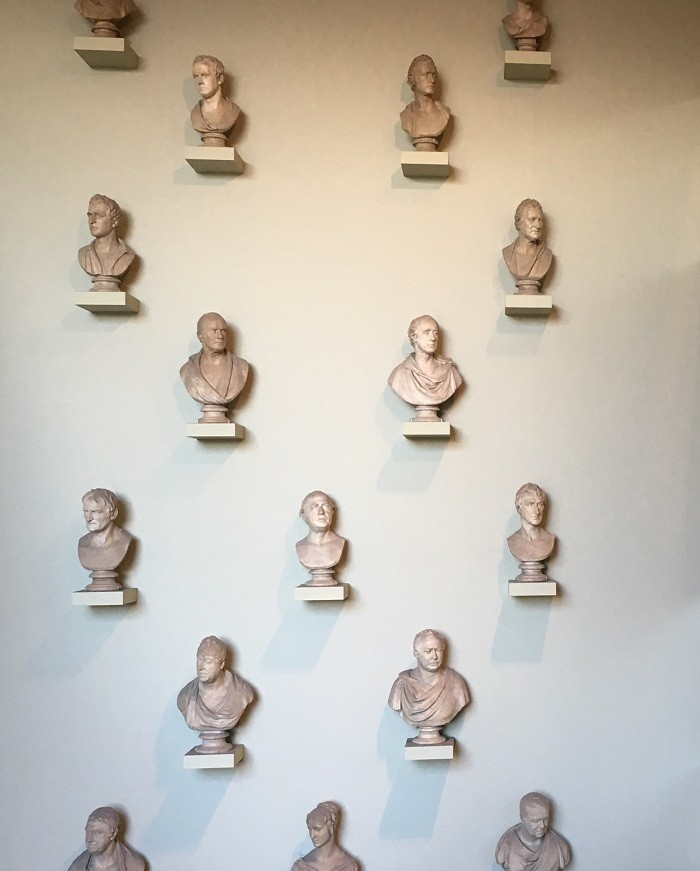 lots of busts at the ashmoleon museum