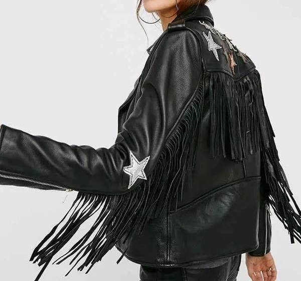 rock and roll ladies fringed jacket