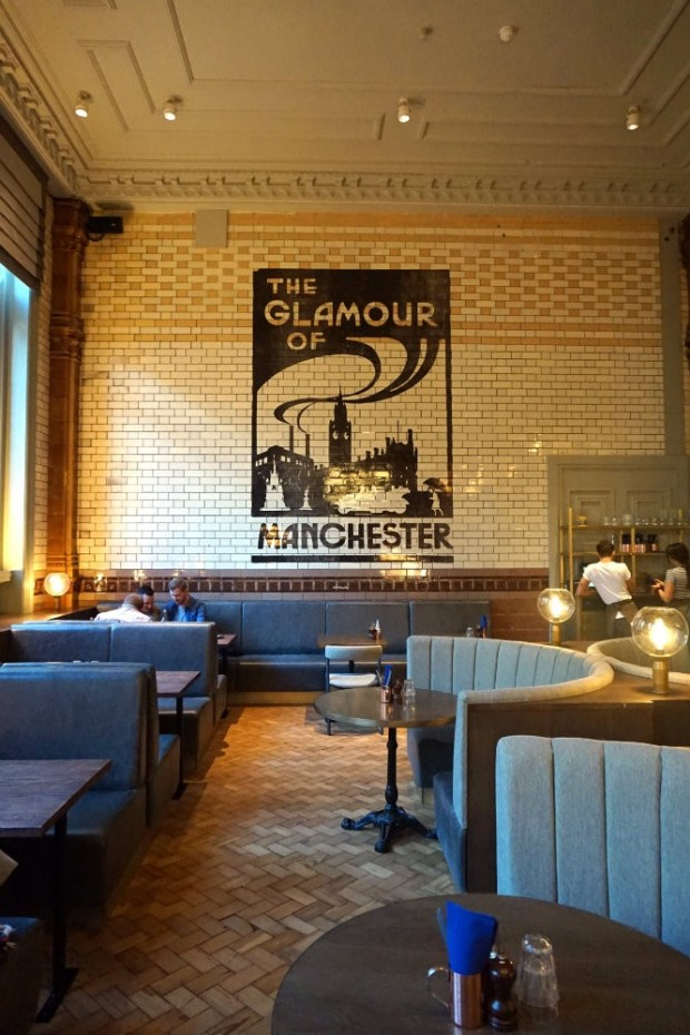 wall of tiles dining room manchester
