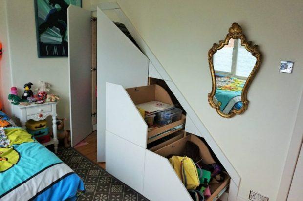 understairs storage drawers