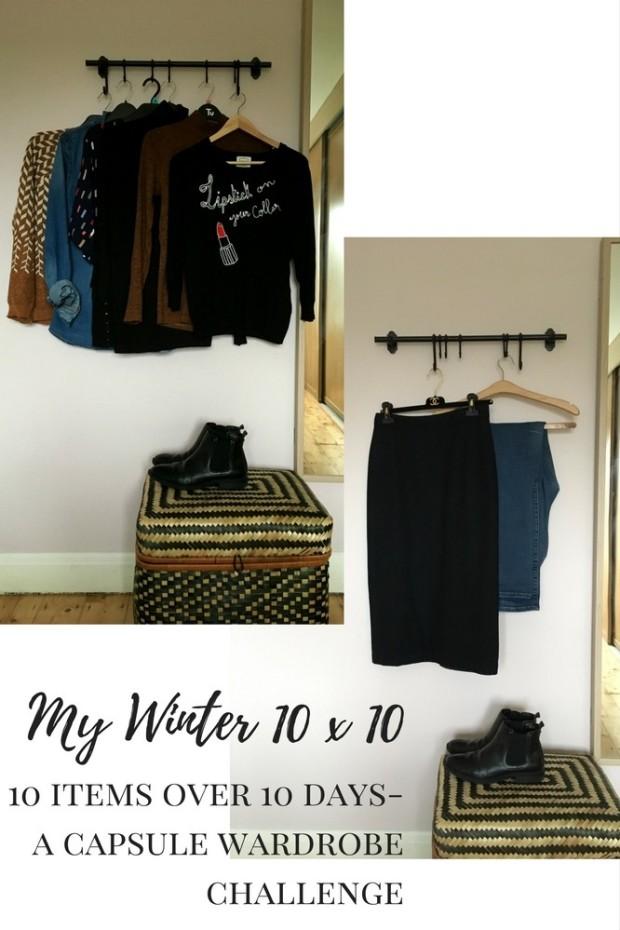 winter capsule wardrobe vintage and denim