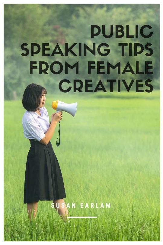 confident public speaking women