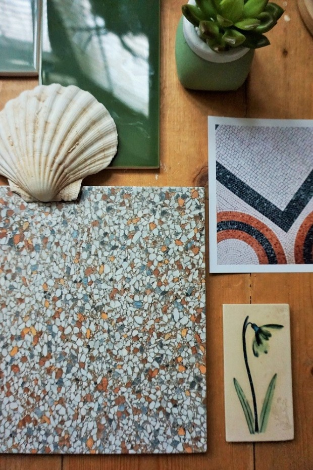 terrazzo tiles for bathroom