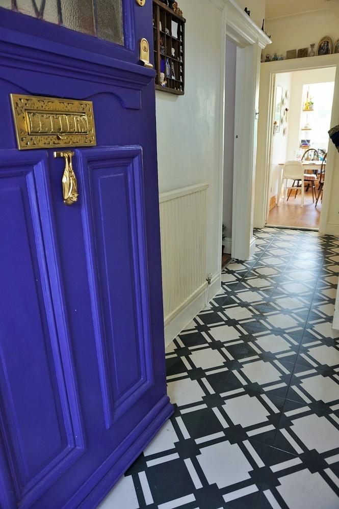 vibrant and bold hallway