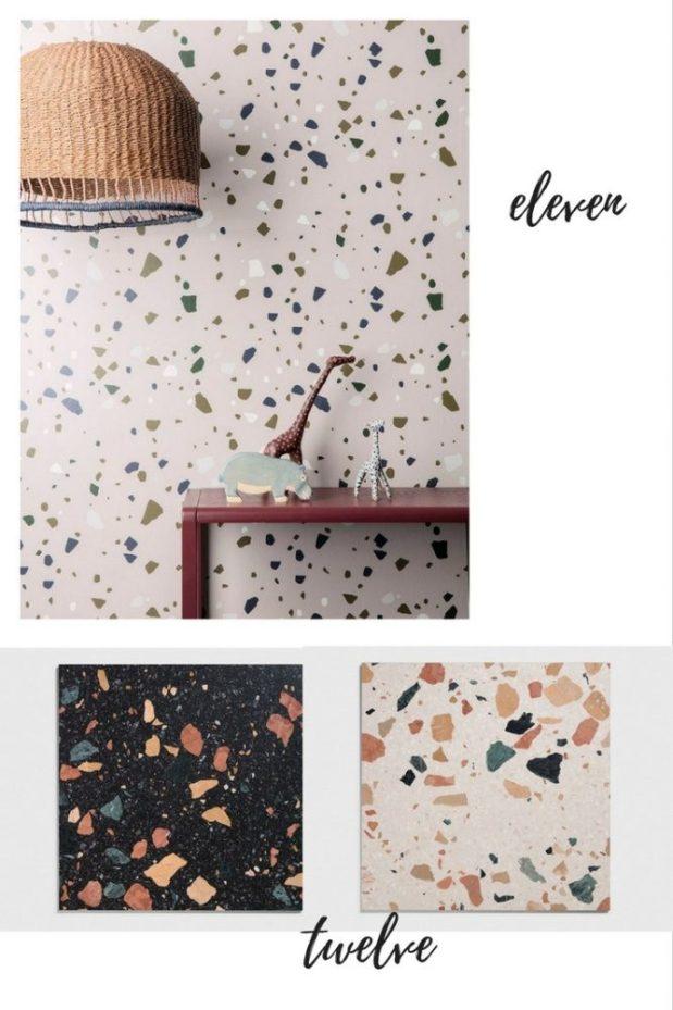 terrazzo wallpaper and tiles