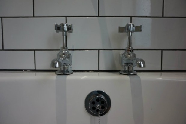old fashioned vintage bath taps