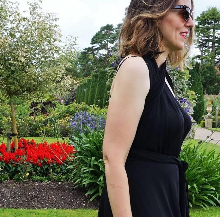 multiway back maxi dress blogger
