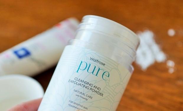 waitrose skincare range sensitive skin cleanser and exfoliater