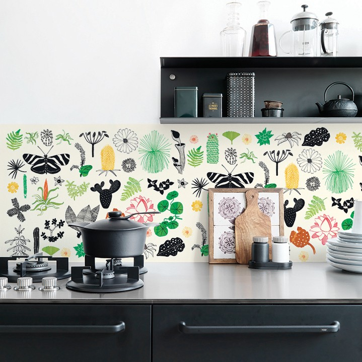 waterproof wallpaper for kitchen splashback