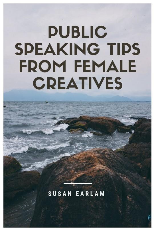 creative women speaking to the public