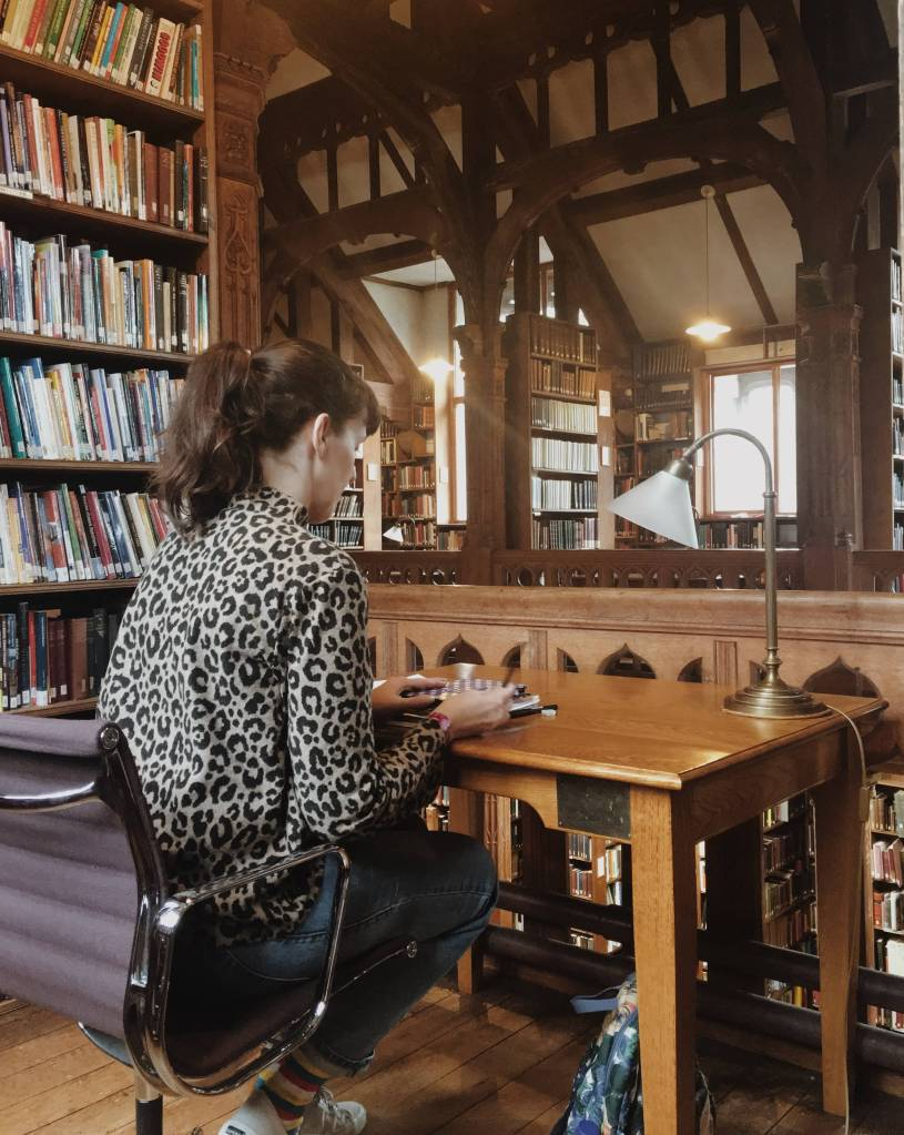 Inside the reading rooms at gladstone's library near chester